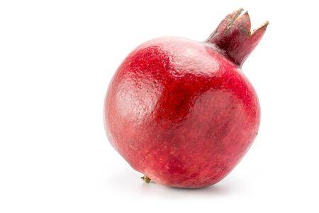 pomegranate: single pomegranate isolated on a white background Stock Photo