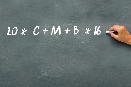 Epiphany Day, hand writing sign of blessing on a blackboard with the year 2016 and the initials CMB for Caspar, Melchior and Balthasar, the Three Kings or Magi Stock Photo
