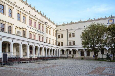 Inner courtyard of the Ducal Castle in Szczecin, Poland