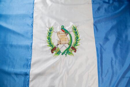 Guatemala flag waving - top view - Independence Day in Guatemala Stok Fotoğraf