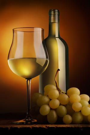 goblet of white wine Stock Photo