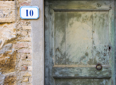 number 10: House number 10 sign Stock Photo