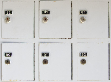 Vintage metal cabinet lockers