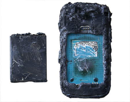 Mobile phone battery explodes and burns two to overheat danger of using smart phone.