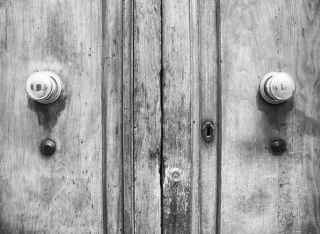 rustiness: Ancient Italian Door in Tuscany (black and white).