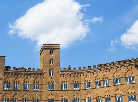 historic buildings: Historic buildings in Piazza del Campo, Siena, Italy.