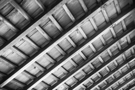 伝統的な和室天井詳細。 写真素材