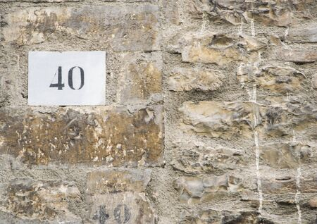 numero: House number 40 sign. Stock Photo