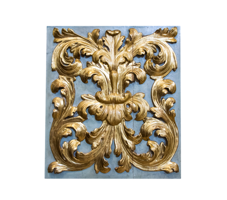 Beautiful traditional Italian interior ornament made of gold and wood.