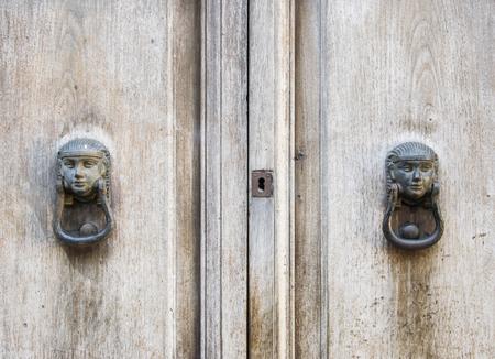 door knob: Details of an ancient Italian door.