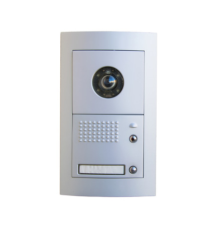 Video intercom equipment on white background, clipping path included.