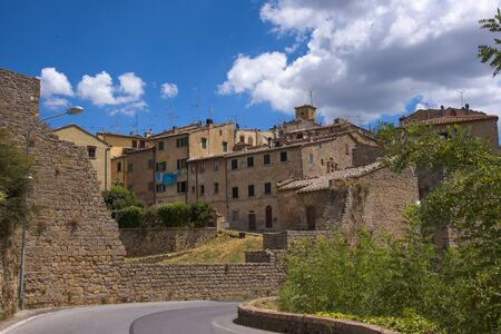 Volterra is a beautiful medieval town in Tuscany, Italy Stock Photo