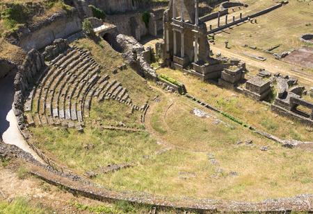 Antique Roman Amphitheater in Volterra, Tuscany-Italy