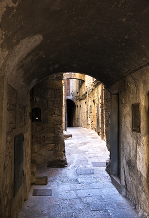 Alley of the city of volterra in italy