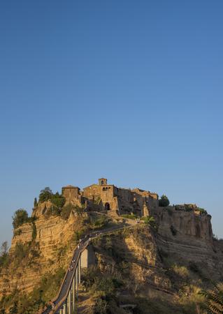 Beautiful view of the old town of Civita di Bagnoregio, Lazio, Italy Stock Photo