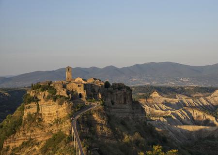 Beautiful view on the old town of Civita di Bagnoregio, Lazio, Italy