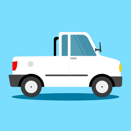jeep: Vector - Land vehicle - pick-up truck Illustration