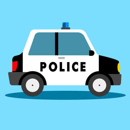chasing: Vector - police car