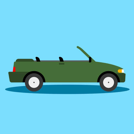 Car side view - Cabriolet, Convertible - Illustration Car, Land Vehicle, Tire, Web Page, Cabriolet