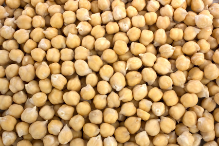 healthy food chickpeas background. chickpeas texture. macro top view
