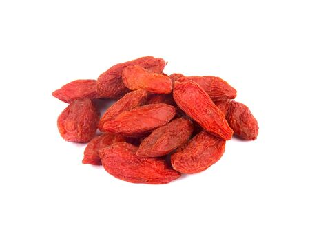 Dried goji berries, isolated on white background
