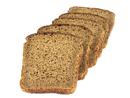 Fresh sliced rye bread loaf isolated on white background cutout Stock fotó