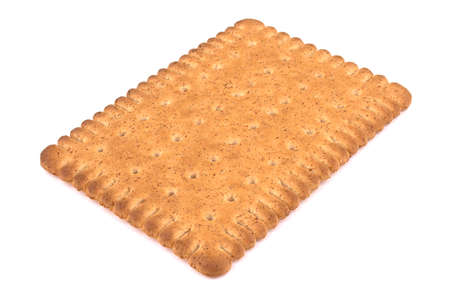 Tasty biscuits with bran on a white background. Healthy superfood Archivio Fotografico