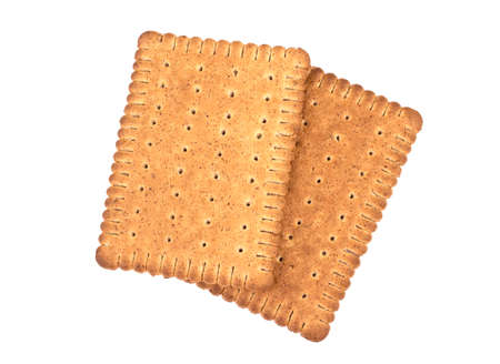 Tasty biscuits with bran on a white background. Healthy superfood