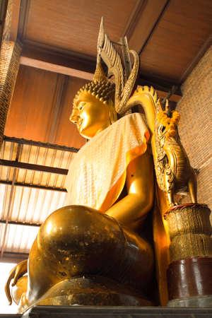 siding: Siding of Buddha statue at Wat Yaichaimongkol, Ayutthaya, Thailand