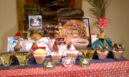 buddhist: Buddhist Shrine Tibetan