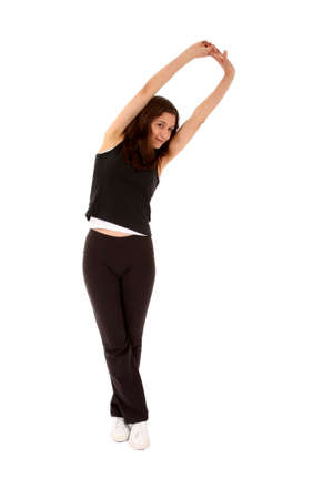 exercices: Sports woman doing stretching exercices
