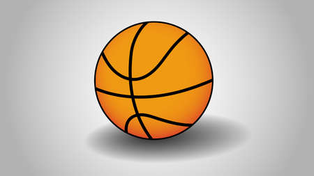 A basketball vector with gray background. 向量圖像