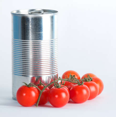 can of tomatoes Stock Photo