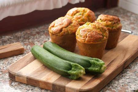 Zucchini-cheese muffins