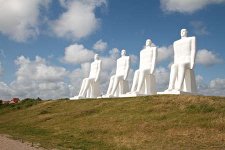 Men meets the sea - Sculpture in Esbjerg,Denmark