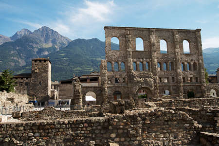 Aosta  Italy  - Ruins of the Roman Theatre