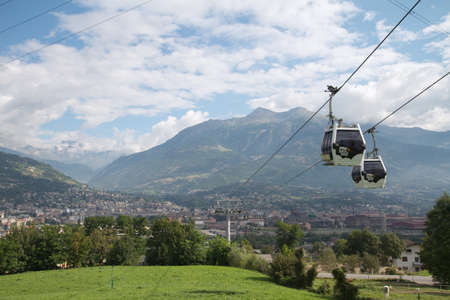 pila: ski lift - Pila Aosta Valley Editorial