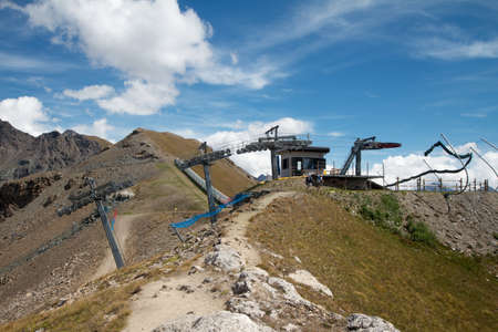 pila: ski lift - Pila Aosta Valley Stock Photo