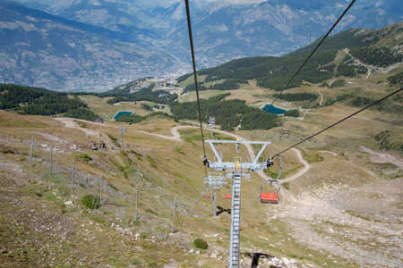ski lift: ski lift - Pila Aosta Valley Stock Photo