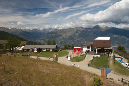 aosta: ski lift - Pila Aosta valley