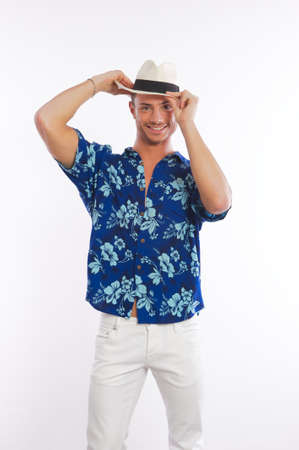 male model hawaiian shirt Standard-Bild
