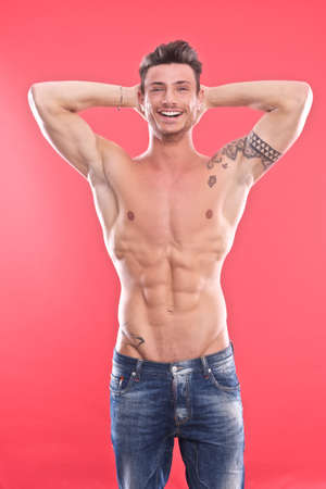 Young male underwear model  Stock Photo