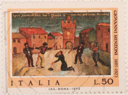 character traits: Italian stamp Editorial