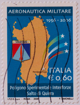 Italian postage stamp Editorial