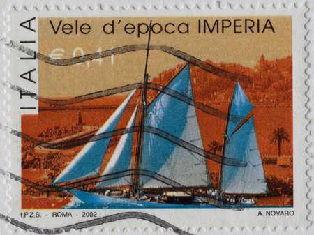character traits: italian postage stamp