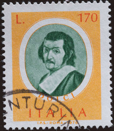 postage stamp: postage stamp - Italy Editorial