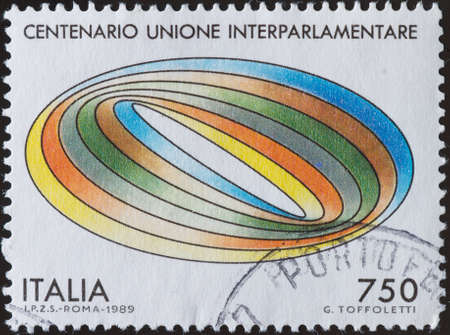 postage stamp: postage stamp - Italy Stock Photo