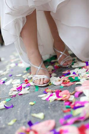 bride shoes photo