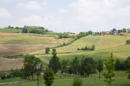 piedmont: Landscape from Monferrato - Piedmont Italy Stock Photo