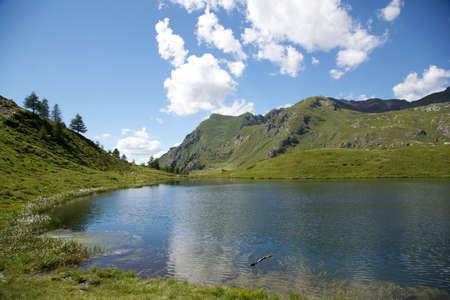 aosta: Literan lake - Aosta Valley IT Stock Photo